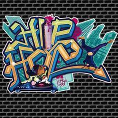 Papier Peint HIP-HOP Doggy Graffiti