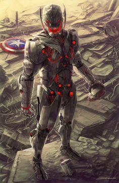 Age of Ultron by Matthew DeMino .Preorder Age Of Ultron Now… Marvel Vs, Films Marvel, Marvel Villains, Marvel Comics Art, Marvel Heroes, Marvel Characters, Age Of Ultron, Ultron Marvel, Ultron Comic