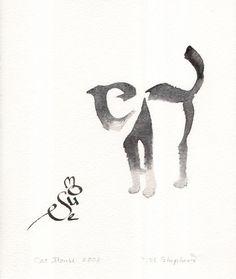 Calligraphie chat et souris - Margaret Shepherd
