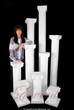 The Empire Series Wedding Columns ranging in heights from to tall. Wedding Columns, Empire, Flowers, Royal Icing Flowers, Florals, Flower, Bloemen, Blossoms