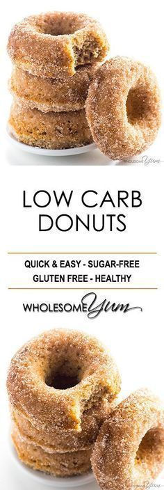 Low Carb Donuts Recipe - Almond Flour Keto Donuts - This keto low carb donuts recipe is made with almond flour. They're even paleo, gluten-free, and easy using common ingredients!