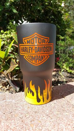 Harley Davidson Powdercoated 30 Oz Yeti Powdercoated
