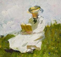 Marc Franz - Reading woman in the greenery