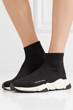 BALENCIAGA cool Speed Runner stretch-knit high-top sneakers