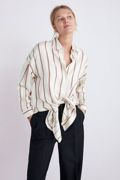 4691d97f Oversized striped shirt. OVERSIZED STRIPED SHIRT - Collection-TIMELESS-WOMAN -CORNER SHOPS ...