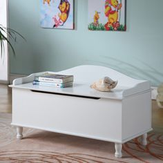 InRoom Designs Storage Bench - White - If you've ever stepped on a Monopoly hotel with bare feet, then you know how a deep, durable chest like the InRoom Designs Storage Bench...