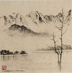 Robert Faure Peinture tchan et Sumi-e Zen, Snow, Painting, Outdoor, Paint, Outdoors, Painting Art, Paintings, Outdoor Games