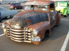 Chevy Rat Rod: would like to have this with a western style metal engraving for the grill, light covers, and visor.