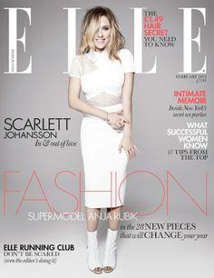 Scarlett Johansson is Elle UK's February 2013 Cover Girl (Photo Gallery)