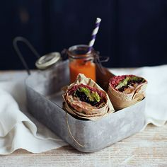 5 brown-bag lunches to spice up your midday meal (like Beet, Black Rice, and Pear Wraps). #healthyrecipes #lunchrecipes #vegetarianrecipes #everydayhealth | everydayhealth.com