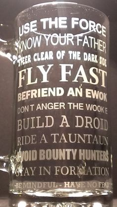 Hey, I found this really awesome Etsy listing at https://www.etsy.com/listing/128384180/star-wars-inspirational-quotes-beer-mug