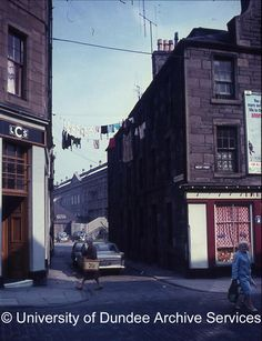Picture of West Port 1967 taken by Professor G H Bell Dundee City, Scotland History, Great Britain, Old Photos, Professor, Buildings, Street View, Homes, Memories