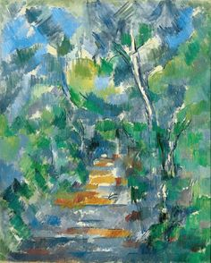 Paul Cezanne Forest Scene Path From Mas Jolie To Ch Teau Noir Poster