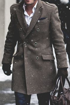Now, ...on this one; leave the one buttoned, button. Tailor the jacket for a snugger fit. Go to the gym, earn a chest. Remove the unbuttoned buttons and place match, long lapels down the coat below the buttoned button. Rope leather piping on the lapel edges...smokin hot! IF you have a chest.