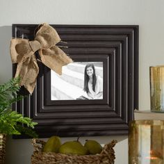 We love the charm of our Burlap Bow Picture Frames! Hang photos of your friends and family members in these old-fashioned, rustic frames. Also available in black, cream, red and blue!