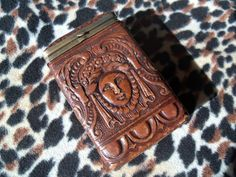 Vintage Cigarette Case Art Deco Era Leather by MartiniMermaid, $62.50 Vintage Cigarette Case, Cigar Cases, Art Deco Era, Leather