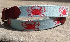 Needlepoint Belt - Crab