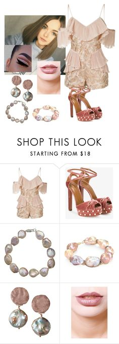 """""""Untitled #605"""" by agmccrary on Polyvore featuring Alice McCall, Aquazzura, A B Davis, Jordan Alexander, Alex Soldier and Lime Crime"""