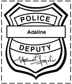 personalized police badges