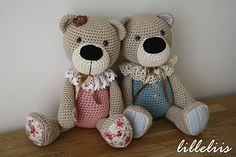 flower Rail - World Full of cuteness and amigurumi: Bears  Ooooooo  Cutest bears ever! Like everything on this page!