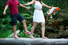 Calvin and Hobbes themed engagement session | styled photoshoot | Stephanie and Jonathan