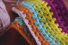 Beautiful crochet blanket I would like to make - yarn is Vanna's choice