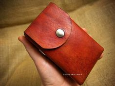 Sweet leather Tarot card pouch...