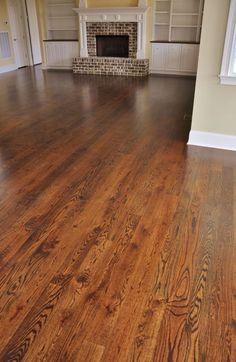 Red Oak Floor Stained Minwax Dark Walnut Greatroom In