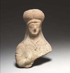 Standing female figurine Period: Cypro-Archaic II Date: 6th century B.C.  From Cyprus Said to be from a tomb at Amathus