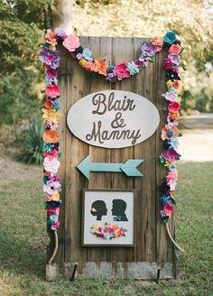 Delightfully Colorful Backyard Wedding in Louisiana - Wedding Eclectic Wedding, Rustic Wedding, Our Wedding, Dream Wedding, Diy Wedding Decorations, Reception Decorations, Louisiana, Wedding Colors, Wedding Flowers