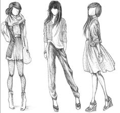 Drawing cloth sketches is interesting | Sketchs Ideas