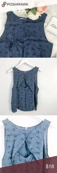 """Free People Printed Ruffle Tank • Front cutout detail • bust 19.5"""" length 21.5"""" Free People Tops Blouses"""