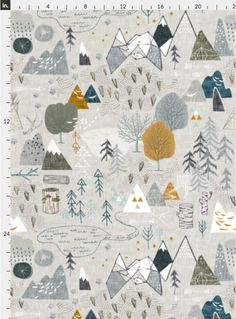 Our wallpapers are fully removable, perfect for renters, kids rooms, dorms, or an easy change in decor! Every Spoonflower wallpaper is PVC-free and printed using water-based, eco-friendly inks.  Maxs Map (grey) by Nouveau Bohemian  Once you place your order we will print the design on your choice of Smooth Water Activated wallpaper (removable) or Woven Peel and Stick wallpaper (removable and repositionable).  Our rolls are 24 inches wide and we offer a variety of lengths to fit your needs…
