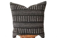 Black Mudcloth Lumbar from Rug & Weave
