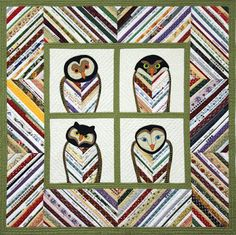 Owl Selvage Quilt is a Hoot!