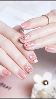 152 trendy nails gel sparkle art ideas – page 24 Cute Acrylic Nails, Acrylic Nail Designs, Cute Nails, Gel Nails, Nail Art Designs Videos, Nail Art Videos, Stylish Nails, Trendy Nails, Korean Nail Art