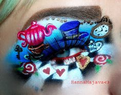 Alice in Wonderland~ tea party eye shadow  inspired makeup avant garde beauty