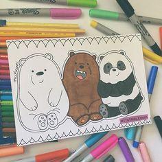 Escandalosos Tiernos y gorditos osos Mini Drawings, Cool Art Drawings, Pencil Art Drawings, Art Drawings Sketches, Doodle Drawings, Disney Drawings, Cartoon Drawings, Easy Drawings, Doodle Art