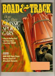 Ivanhoe162 on Ecrater-The Great Ebay Alternative: Vintage Car Magazines: Road & Track Magazine June ...