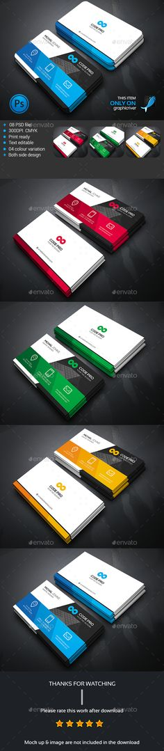 Creative Business Card — Photoshop PSD #standard #blue • Available here → https://graphicriver.net/item/creative-business-card/13831356?ref=pxcr