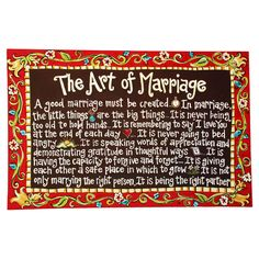 Glory Haus Marriage Canvas Art  We have this and love it I really rings true