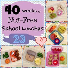 Kids School Lunches Nut Free - Week 23 of 40 Weeks for family lunch packing ideas StuffedSuitcase.com
