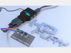 HDfury 3 1080p Full-HD, HDMI 1.3 do Component/RGB Converter (black). Top quality. NOTE: HDCP is removed on VGA, COMPONENT and DVI-D! Alows reconring of a digital signal etc.