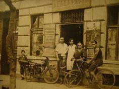1930. Szabolcs utca 15. Iistenes József kerékpár és kismotorjavító műhelye.