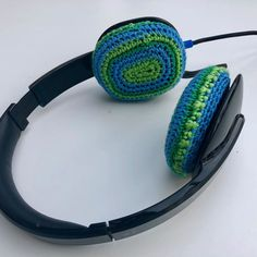 """RullaKoo, Riitta Kahelin on Instagram: """"The cushions on my headset were falling apart. But never fear, crocheting is here. #visiblemending #mendingmatters #mindfulmending…"""" Visible Mending, Falling Apart, Headset, Crocheting, Cushions, Instagram, Headphones, Crochet, Throw Pillows"""