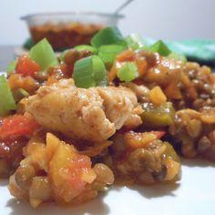 Pittige linzenschotel met kip, paprika, wortel en ui - Het keukentje van Syts