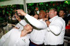 Jonah Lomu Photos - Heineken Rugby Legends (L-R) Matt Dawson, John Smit, Jonah Lomu and Scott Quinnell open Rugby World Cup 2015 at Somerset House to celebrate Heineken's campaign #ItsYourCall on August 26, 2015 in London, England. - Heineken #ItsYourCall Launch