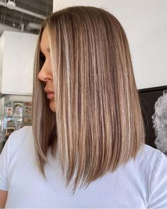 Brown Hair Balayage, Brown Blonde Hair, Light Brown Hair, Light Hair, Hair Highlights, Balayage Straight Hair, Light Brunette Hair, Natural Blonde Highlights, Bob With Highlights