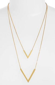 Vince Camuto 'Very Vince' Double V Pendant Necklace | Nordstrom