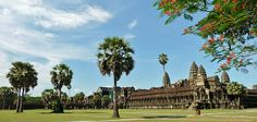 was first a then subsequently a temple in and the largest religious monument in the world. Khmer Empire, Good Morning Greetings, Siem Reap, Angkor Wat, 12th Century, Abandoned Places, Beautiful Images, Dolores Park, Buddhist Temple